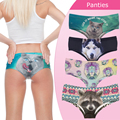 Sexy Panties 2016 New 3D  Printed Animal Cat womens underwear lady briefs lingerie femme braguitas mujer