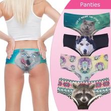 Сексуальные Трусики 2016 Новых 3D Напечатаны Животных Кошка женское нижнее белье леди трусы белье femme braguitas mujer