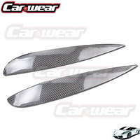 Real Carbon Fiber Decoration Headlight Eyelids Eyebrows Cover Trim 2pcs Fit For Acura RSX 2002 2006