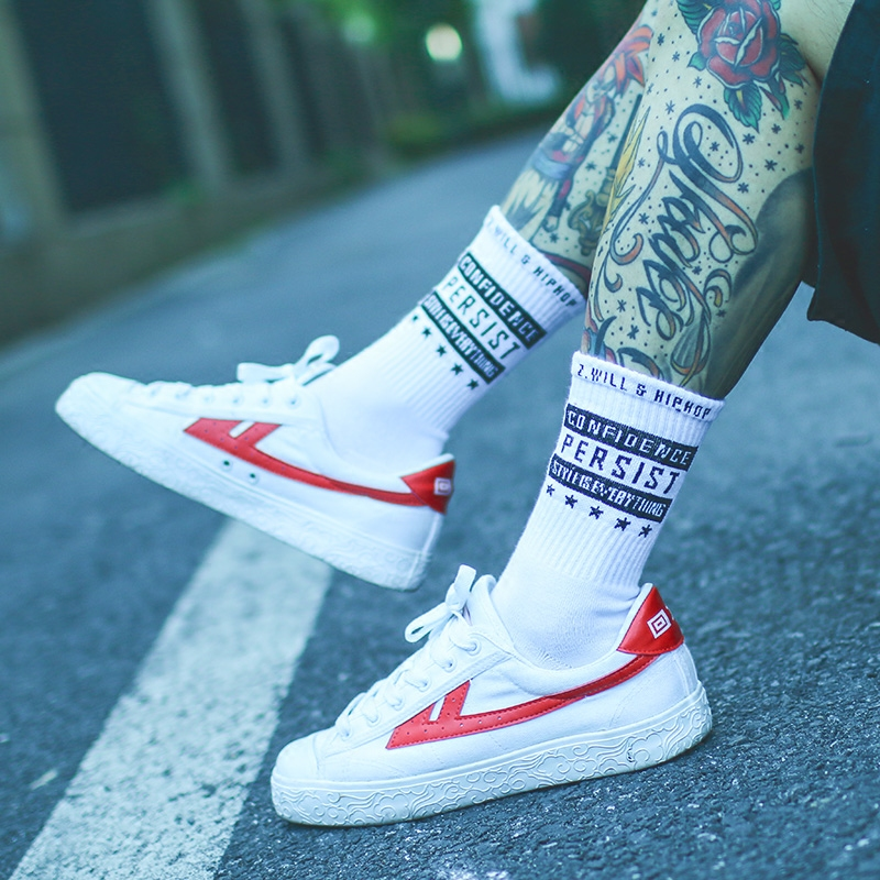 IMINCN 1Pair Sport Casual  Persist Brand New Hiphop Harajuku Cute Patter Style Socks Hipster Skateboard Man Ankle Funny Socks