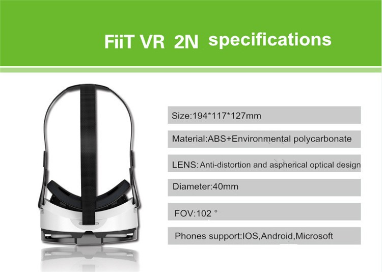 FIIT VR 3D Virtual Reality Video Helmet Cardboard 2.0 VR Glasses Box for 4.0-6.5 inch Smartphone Lightweight Ergonomic Design (17)