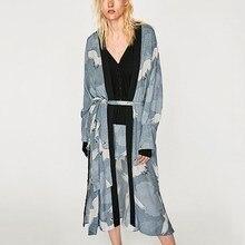 2019 Women Long Kimono Ladies Elegant Bohemia Cardigan Blouse Womens Sleeve Casual Shawl Tops Shirts