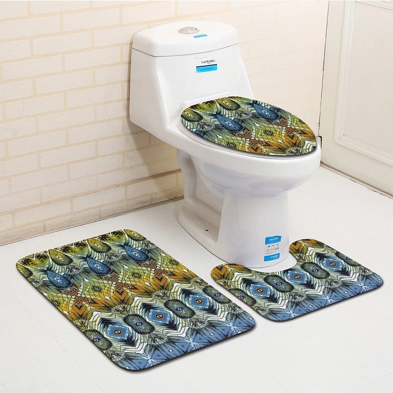 European Fashion Geometric Pattern Bathroom Floor Mats and ...