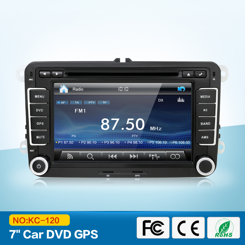 2din 7inch car dvd player radio gps for vw golf vi golf v. Black Bedroom Furniture Sets. Home Design Ideas