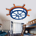 Американский творческий мультфильм лодка руль потолочный светильник спальня детская комната свет средиземноморская индивидуальность пар...