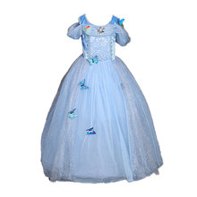 Sequins Butterfly Role Play Costumes Cinderella Elsa & Anna Costume Toddler Girls Tulle Party Dress Baby Girl Princess Dresses