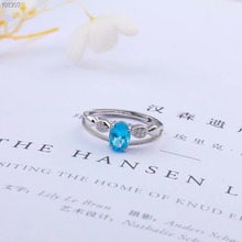 hot sale fashionable 925 sterling silver plated oval natural blue topaz ring for women engagement