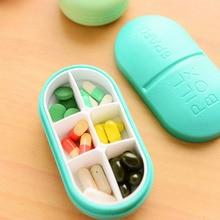 1 шт. мини коробка для таблеток Мини Милая пластиковая коробка для таблеток Чехол для лекарств складной контейнер для хранения таблеток Дорожный Чехол-держатель