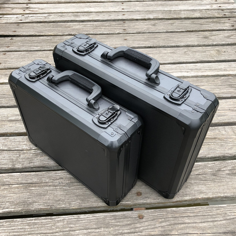 Алюминий инструмент случае чемодан toolbox коробке файла ударопрочный безопасности случае оборудование корпус камеры с нарезанные пены внутр...