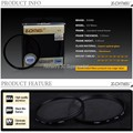 ZOMEI 40.5/49/52/55/58/62/67/72/77/82/86mm Ultra-Violet UV Filter Lens Protector for Canon Nikon camera
