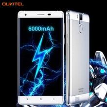 4 Г OUKITEL K6000 Pro 3 ГБ/32 ГБ 6000 мАч 5.5 дюймов Android 6.0 MTK6753 Octa Ядро 1.3 ГГЦ Oukitel K6000 2 ГБ/16 ГБ Android 5.1 MTK6735P