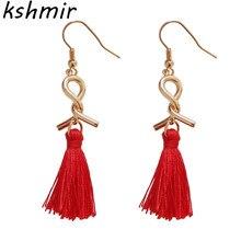 Simple fashion temperament women earrings creative tassels eardrop tall joker contracted students