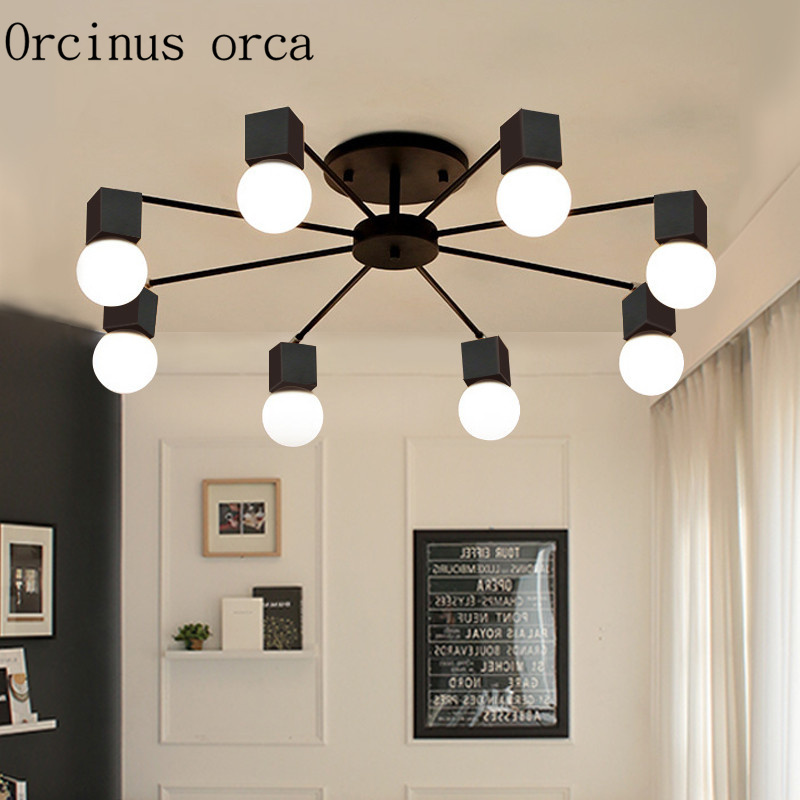 Modern simple creative personality living room lamp light room bedroom ceiling lamp American style Nordic lighting living room bedroom bedside table lamp american style simple style lighting modern garden lamps ta9136