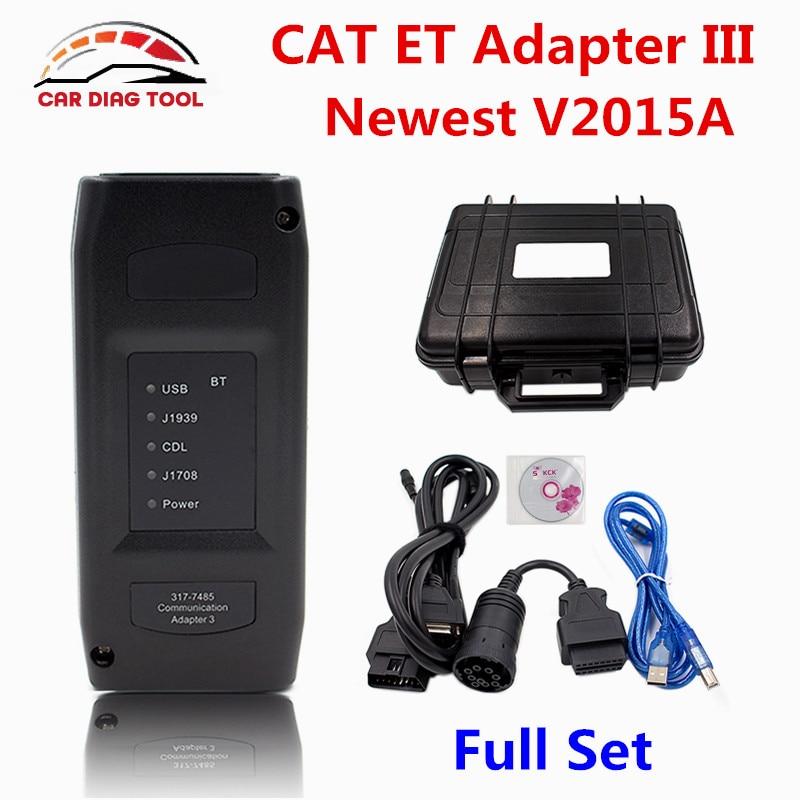 Prix pour Meilleur 2015A CAT ET 3 Sans Fil Adaptateur III Camion Outil De Diagnostic Réel CAT3 Sans Bluetooth Communication Adaptateur 3 P/N 317-7485