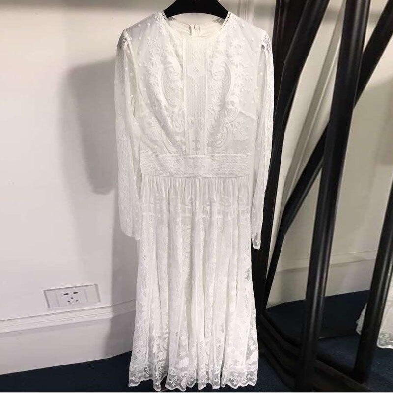 Longues Rouge Robe cou 2019 Mode blanc corail D'été Conduites Nouveauté Manches Femmes Élégante D'o Carburant À De Noir Pour Dentelle n8Bw41HqPx