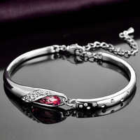 Jemmin Genuine S925 Sterling Silver Bracelets For Women Natural Crystal Diamond Bangle Bracelets Fine Jewelry Birthday