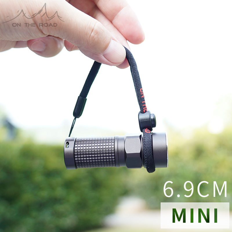 ON THE ROAD I3 Mini Zoom Flashlight Rechargeable LED Flashlight 620lm EDC Outdoor Waterproof Torch (Without Battery)