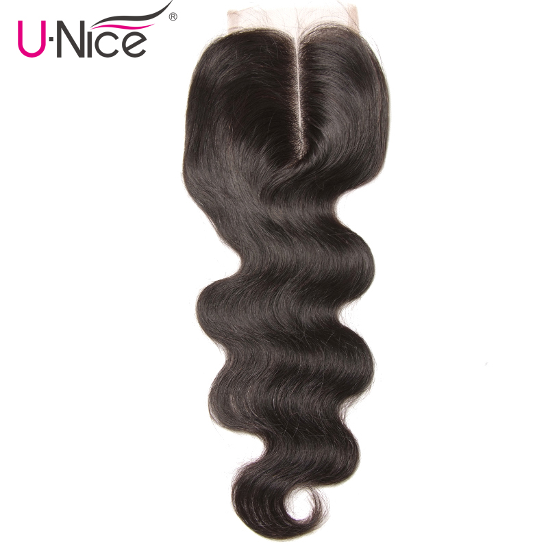UNice Hair Icenu Series Remy Hair Middle Part Lace Closure Peruvian Body Wave Remy Hair Closure