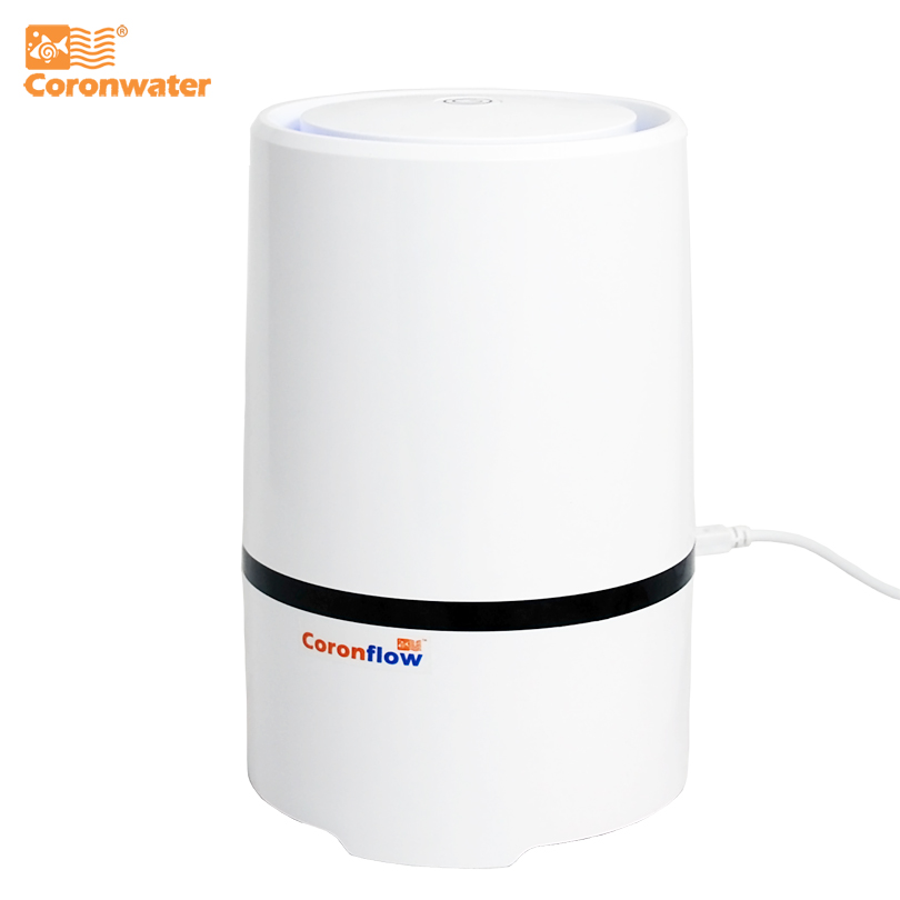 Coronwater Home and Office Desktop HEPA Filter Air Purifier Portable Ionizer GL-2103