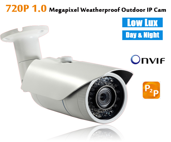 ФОТО IP Camera outdoor 720p 1MP waterproof IP66 bullet security network HD cctv camera support ONVIF P2P plug & play home security