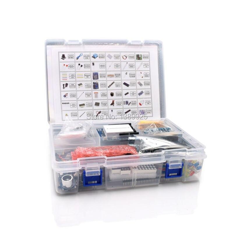 Ultimate Starter Kit compreso Sensore Ad Ultrasuoni, UNO R3, Schermo LCD1602 per arduino UNO Mega2560 ONU Nano con Scatola di Plastica