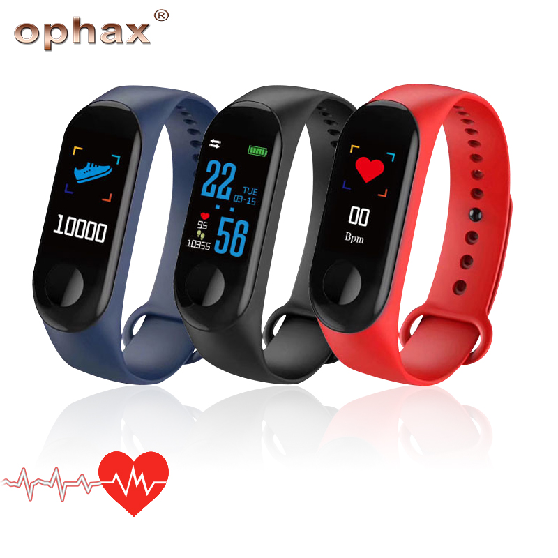100% Wahr Ophax Wasserdichte M3 Plus Smart Armband Blutdruck Herz Rate Monitor Meter Ips Bildschirm Digitale Automatische Blutdruckmessgerät