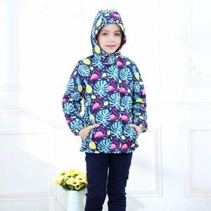 Image 3 - Waterproof Index 5000mm Warm Baby Girls Jackets Child Coat Polar Fleece Children Outerwear For 3 12 Years Old Winter Autumn