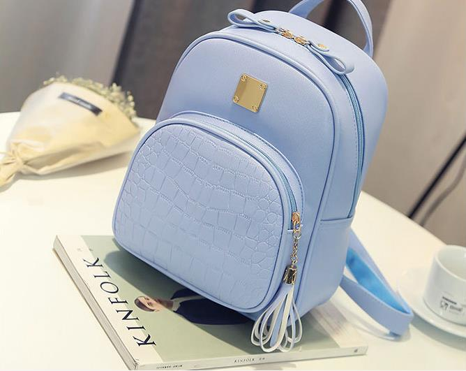 Candy Color Women Backpack New Fashion Preppy Style Backpack For Teenager Girls PU Leather Small Female School Shoulder Bag primary school students school bag 3 6 candy color preppy style backpack