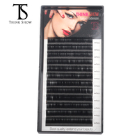 Thinkshow 10pcs/lot B/C/D Curl Individual Silk Eyelashes Korea Eyelash Extension 3D Lash Extension Natural Eye Lashes Mink Lash