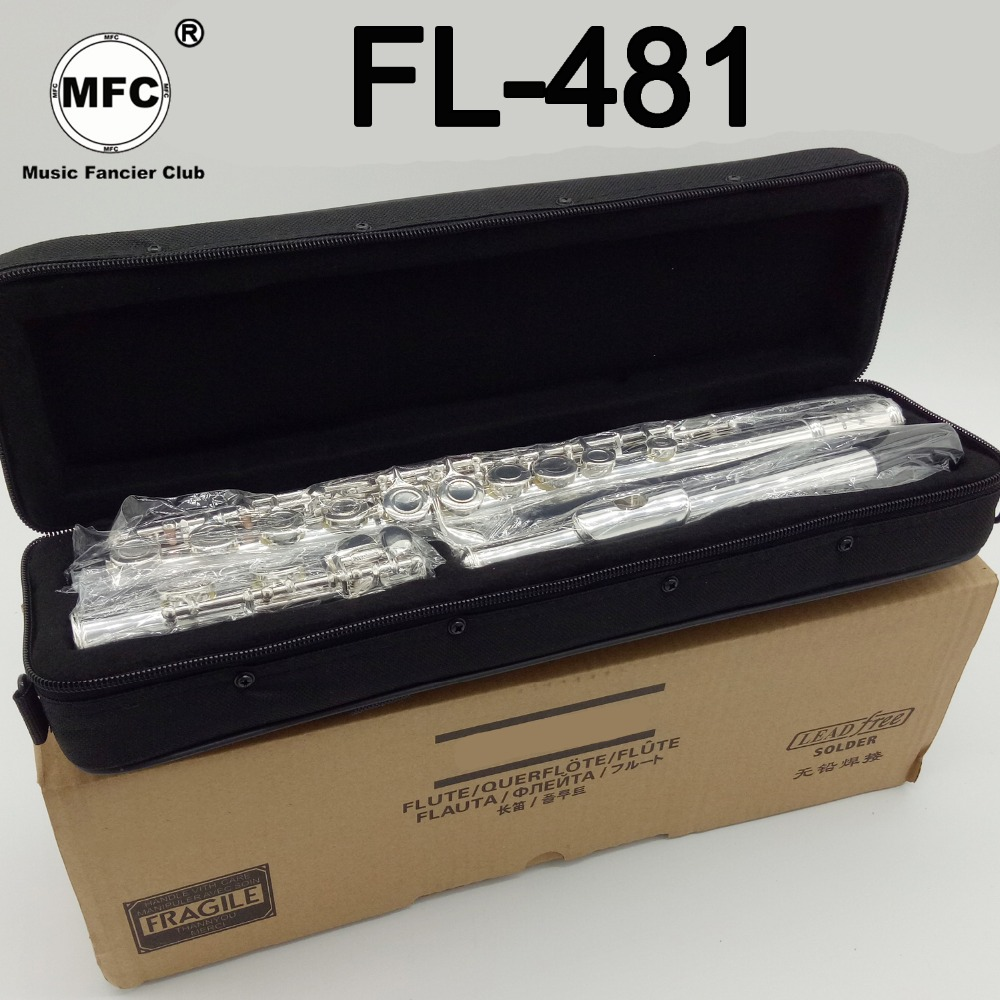 Music Fancier Club Intermediate Standards Flute FL-481 Student Flutes Silver Plated 16 17 Holes Closed Open Hole With CaseMusic Fancier Club Intermediate Standards Flute FL-481 Student Flutes Silver Plated 16 17 Holes Closed Open Hole With Case