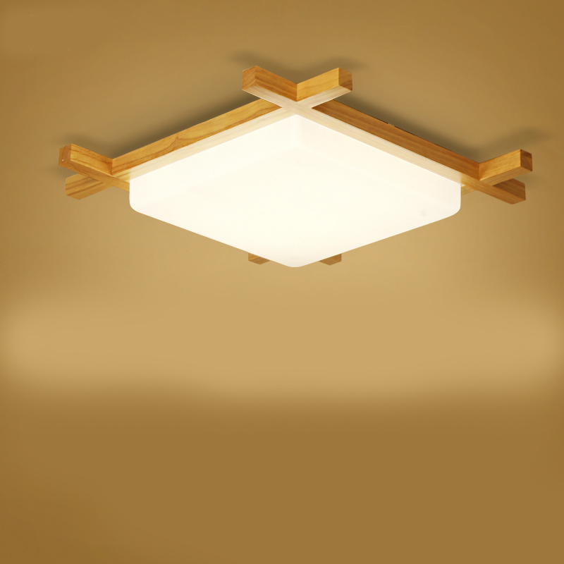 цены New Surface Mounted Led Ceiling Lights wood Modern Light Fixtures for Living Room Dining Room Bedroom led ceiling lamp 220V
