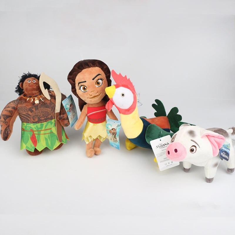 20cm Moana vaiana Waialiki kurczak i świnia Pua pluszowe lalki księżniczka zabawki miękkie pluszaki lalki dla dzieci zabawka dla dziecka prezenty