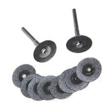 10 шт. 20 мм набор алмазных дисков режущие колеса 3,2 мм оправки мини-сверла аксессуары для вращающегося инструмента Dremel