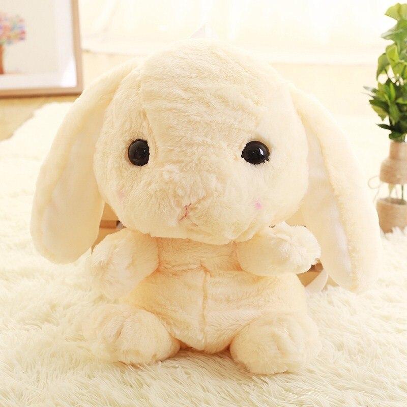 Niedlichen kaninchen plüsch rucksack cartoon gefüllte plüsch puppe kinder schule tasche geschenke für kinder