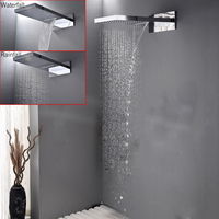 DISGOD Rainfall And Waterfall Bathroom Shower Head Wall Mounted Bath & Shower Set Contemporary Style Chrome Or Brushed Nickel