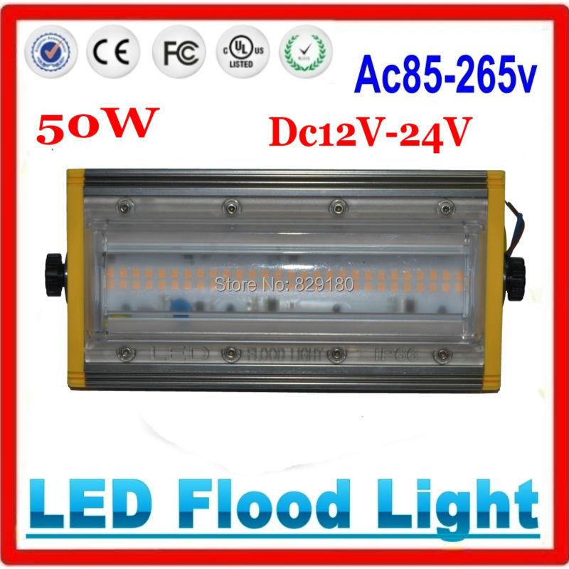 50W LED Flood Light DC12 24v AC85 265v waterproof IP66 Floodlight Spotlight Outdoor Wall Lighting-in Floodlights from Lights & Lighting on ZESOL Official Store