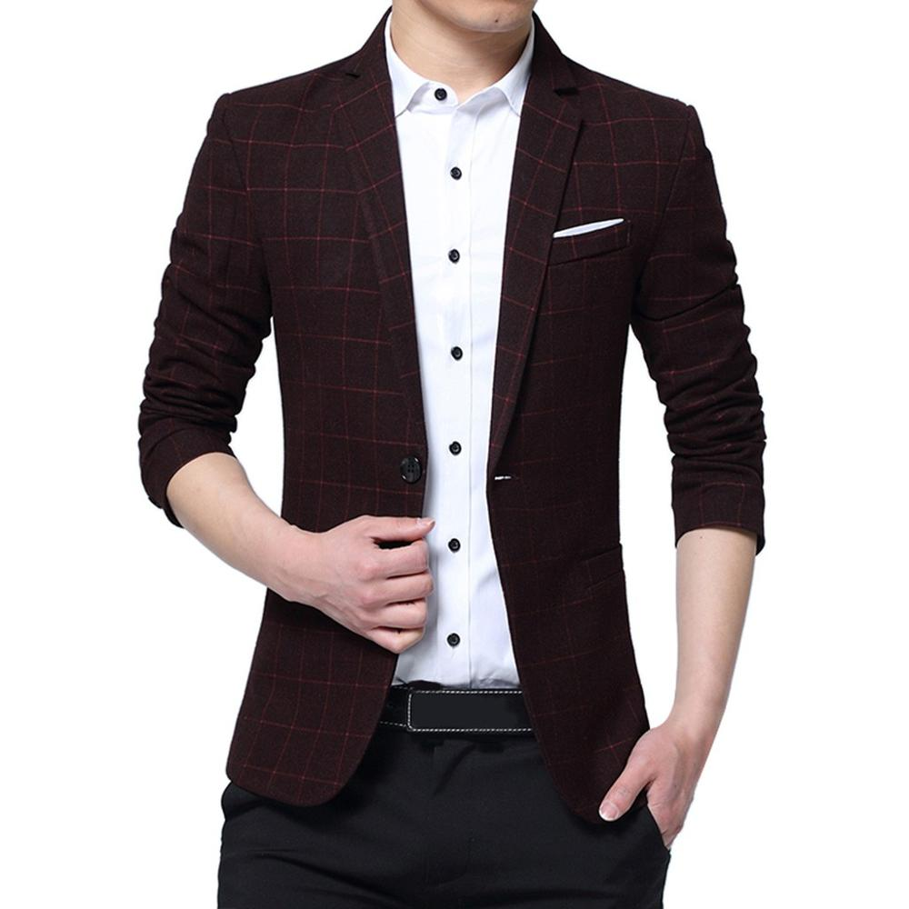 Men's Fashion New Style One Button Suit For Self-Cultivation Business Coat Formal Jacket Man Slim Male Suit Fashion L15#