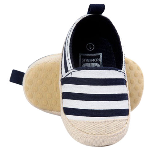ABWE Best Sale ROMIRUS Cute Baby Shoes Baby Girl Boy Striped Shoes Soft Sole First Walke ...