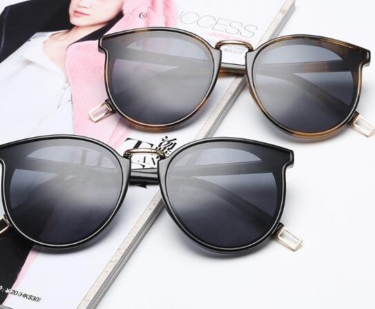 Ronde couleur film de mode visage lunettes de soleil HHX2