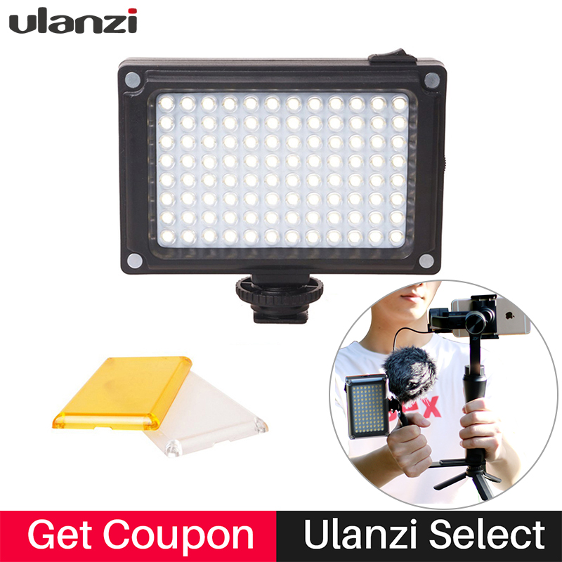 Ulanzi 96 Mini LED Luz de video en cámara Fotografía Vlogging Transmisión en vivo Lámpara de video para Nikon Feiyu vimble 2 DJI Osmo Pocket