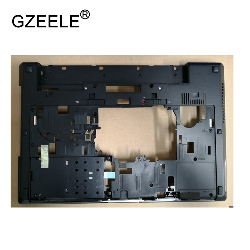 GZEELE New Laptop Bottom Base Case Cover For HP for Elitebook 8560W 8570W Base Chassis D Case shell lower case 652649-001 BLACK original new 15 6laptop lower case for hp omen 15 5000 series bottom cover base shell 788598 001 empty palmrest 788603 001