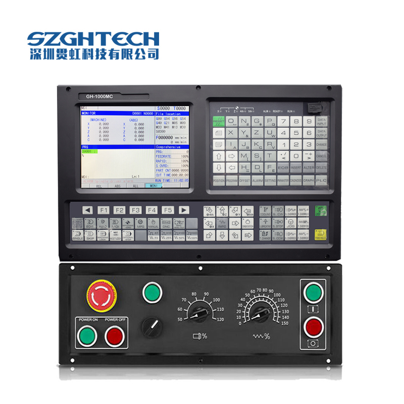 High Grade GH-1000MC 3 axis cnc milling controller With ATC+PLC,include B PANEL +MPG+cable