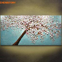 Unframed Palette Knife Hand Painted Oil Painting Flower Tree Home Decor Wall Art Picture Canvas For Living Room Decoration