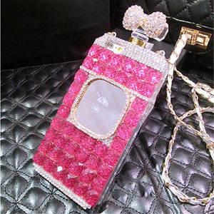 Image 4 - XSMYiss Samsung S20 S8 S9 S10 artı S10E not 10 artı 8 9 elmas taklidi ayna parfüm şişesi yumuşak telefon kılıfı arka kapak