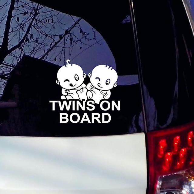 Gêmeos a Bordo Styling Decal Adesivo Janelas Do Veículo Decoração Do Carro À Prova D' Água
