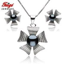 Vintage Fine Jewelry Set For Women Black