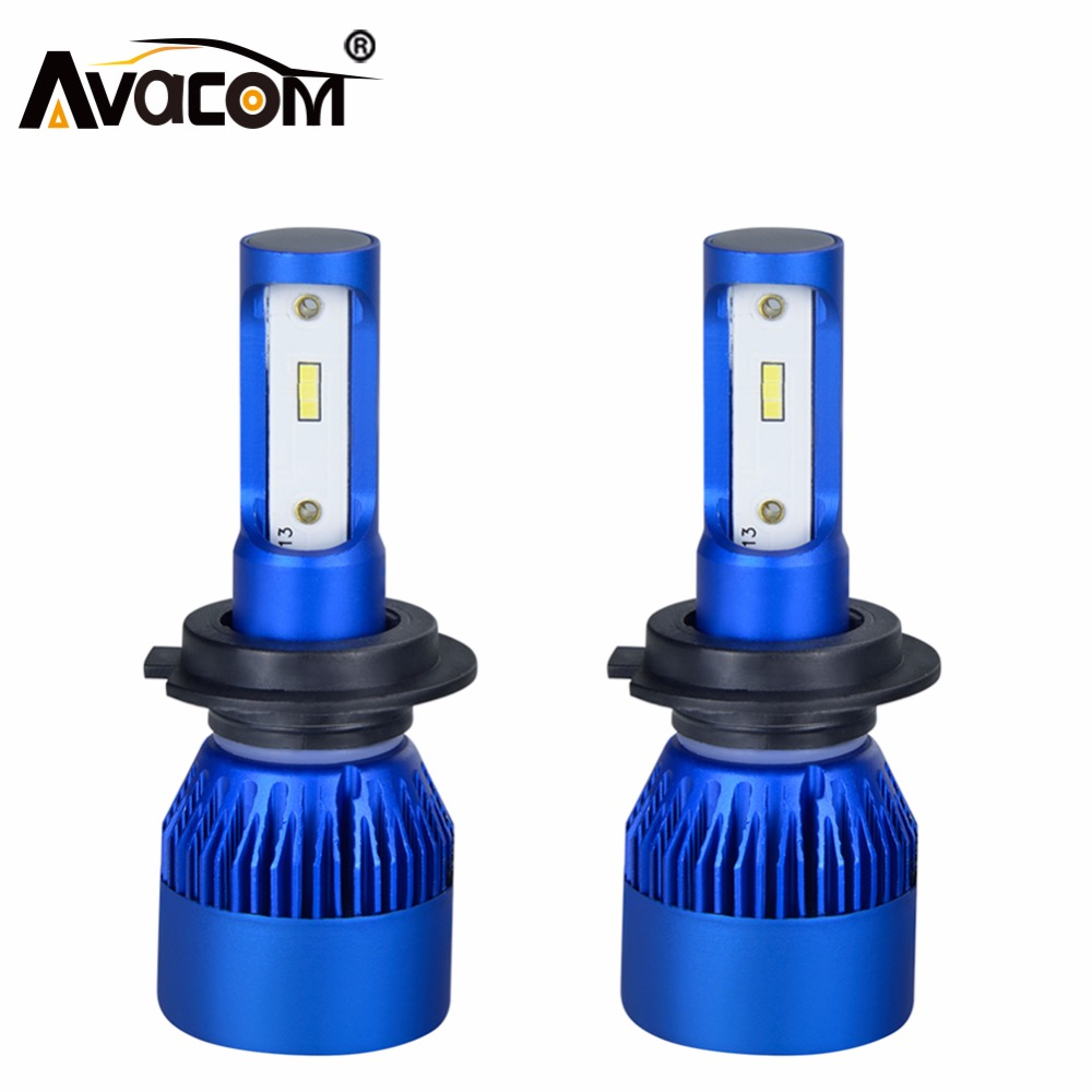 Avacom <font><b>LED</b></font> H7 H4 H1 Mini Car Headlights Bulb 12V CSP Chip 9005/HB3 9006/HB4 10000Lm 72W 6500K White H11/H8/H9 Auto Fog Lamp