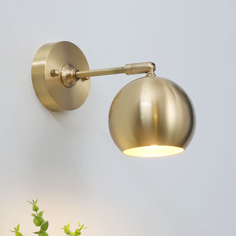 off the wall wall lamp E27 European style golden wall lighting for bedroom bathroom vanity light mirror vanity light