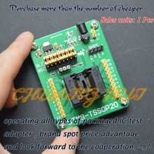 STM8-TSSOP20 STM8S Programming Adapter IC Test Socket for TSSOP20 Package 0.65mm Pitch with SWIM Port стоимость