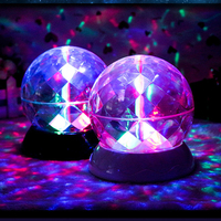 Romantic Colorful Sky Projector LED Starry Night Light Lamp Rotating Crystal Ball Table Nightlight Lamp For